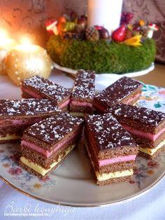 TutiReceptek és szép képek oldala!: Lajcsi szelet Hungarian Desserts, Hungarian Recipes, Cookie Recipes, Keto Recipes, Dessert Recipes, Ital Food, Cheesecake Pops, Love Food, Bakery