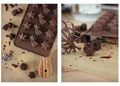 Peppermint Butter Chocolates Collage