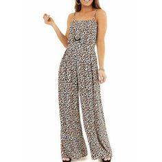 Jumpsuits-0514 Soft Pants, Loose Pants, Plus Size Harem Pants, Leopard Print Shorts, Casual Tie, Backless Jumpsuit, Striped Jumpsuit, Printed Tank Tops, Women's Summer Fashion