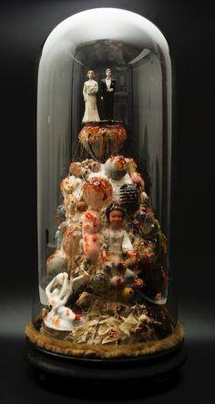 -Laurent Gauthier-  *Ces myriades d'objets.  'Globe de mariés'  (technique mixte. 2012)