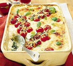 The ultimate unctuous cheesey, tomatoey, basily dinner - pure comfort food (recipe: BBC Good Food)       A-Z of recipes  Cakes  Cuisines  Favourites  Healthy   Ingredients  Occasions  Special diets  Vegetarian  Features