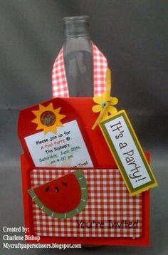 BBQ Apron Invitation by CraftPaperScissors - Cards and Paper Crafts at Splitcoaststampers