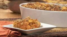 Sweet Potato Puff | A baked sweet potato casserole is the perfect side dish to serve with roasted turkey or chicken.