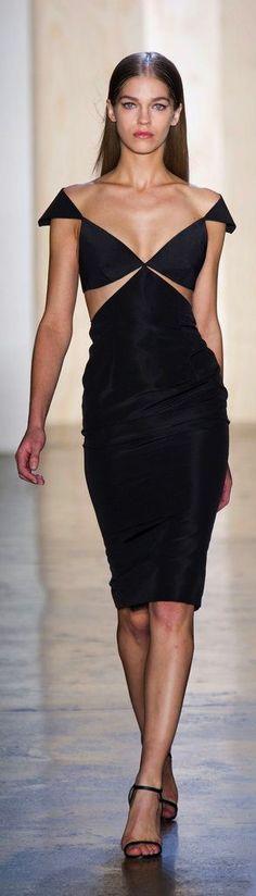 LATEST FASHION DESIGNER SHOW BLACK DRESS