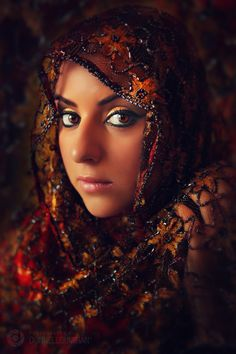 Arab woman #beading #woman #portrait