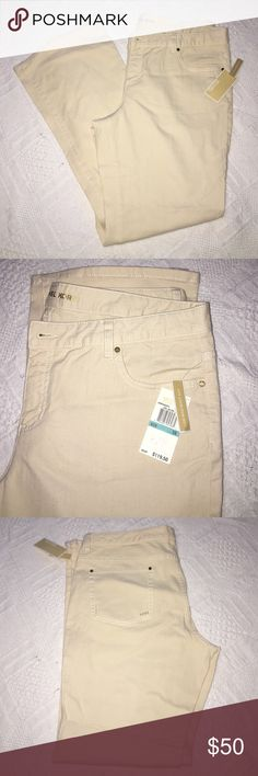 """Michael Kors Natural Low Rise/Boot Cut Pants Brand New With tags Michael Kors Natural cream Stretch Low Rise/ Boot Cut pants. The length from inseam to bottom is 32.5"""" and the waist length is 19"""", from top of pants to inseam 10"""". 99% cotton, 1% spandex. KORS Michael Kors Pants Boot Cut & Flare"""