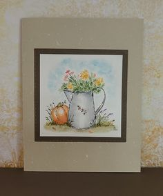 Garden Wagon, Tombow Markers, Art Impressions Stamps, New Bible, Vine Leaves, Decorated Jars, Get Well Cards, Nature Scenes, Love Flowers