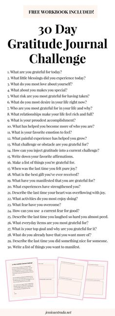 Click through to sign up for my 30 day gratitude journal challenge and download your FREE workbook! Plus, you can read my tips for stepping up your gratitude practice for increasing joy, happiness, success, and abundance in your life.