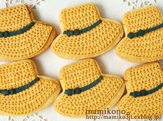 straw hat cookies