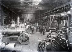 Steam engine factory