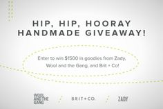 Feeling Lucky? Win $1500 of Handmade Gifts from Zady + Wool and the Gang via Brit + Co.