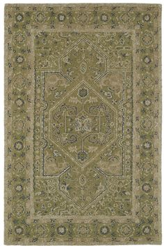 Montage Hand-Tufted Green Area Rug