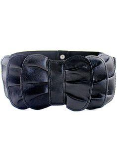 Black Multilayers Bow Elastic Wide Belt EUR€6.63