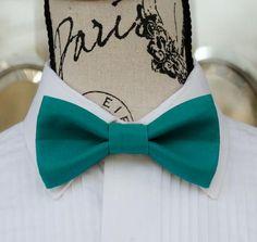 Men Women 100/% Cotton Matte Evergreen Deep Green Craft Bow Tie Bowtie Wedding