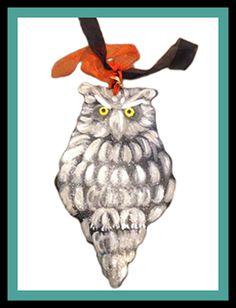A glitter #owl #doorhanger is just what everyone needs for #halloween . @judyattherink