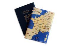 FRANCE MAP passport cover passport holder passport case by efratul, $7.00