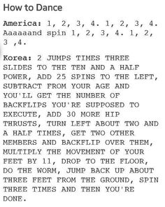 Dancing: America vs. Korea