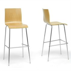 Lowest price online on all Baxton Studio Sydney Bar Stool in Natural (Set of 2) - SD-2111A-PSTL