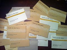 Stay Gold: DIY: Business Cards