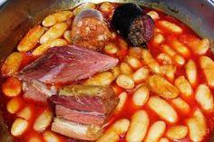 Fabes asturianas con jamón