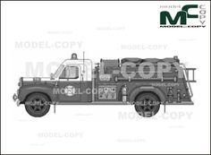 American LaFrance Fire Truck - drawing