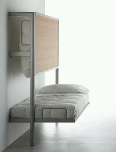 Fold-up bunk bed