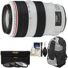 Canon EF 70-300mm f/4-5.6 L IS USM Zoom Lens with Backpack Case + 3 UV/ND8/CPL Filters + Cleaning Kit for EOS 6D, 70D, 5D Mark II III, Rebel T3, T3i, T4i, T5, T5i, SL1 DSLR Cameras Canon http://www.amazon.com/dp/B008K6MURW/ref=cm_sw_r_pi_dp_Xt-Iwb0MPG990