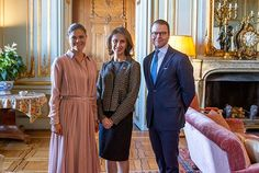 5 October 2016 - Crown Princess Victoria and Prince Daniel receive Azita Raji, US ambassador to Sweden - dress (recycled) by Ralph Lauren