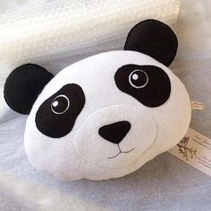 Panda Bear Pillow PDF Pattern and Tutorial Instant Download