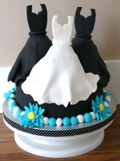 Wedding shower cake.  I loved making this one!!