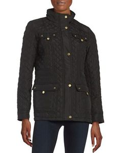 Weatherproof Quilted Parka Jacket Women's Black Small