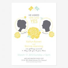 Say Yes Wedding Invitations