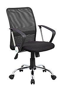 Anji Modern Furniture Mid-Back Swivel Mesh Seat Computer Lumbar Support Task