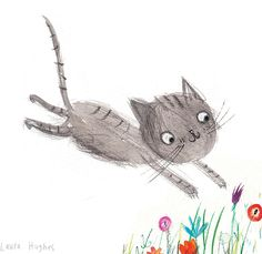 Laura Hughes - Leaping Kitty sketch