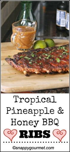 Tropical Pineapply & Honey BBQ Ribs Recipe | snappygourmet.com