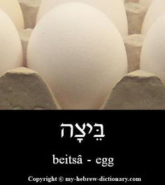 "How to say ""egg"" in Hebrew, and yes it is from Biblical Hebrew -- see, for example, Devarim (Deut.) 22:6.  Here it pronounced here: http://www.my-hebrew-dictionary.com/egg.php"