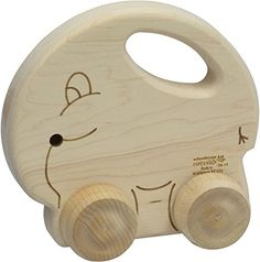 The Push N Pull Elephant measures approximately long by high by wide. Crafted from locally sourced, responsibly harvested maple with hardwood components, laser detailing on both sides, and no finish.just wood and glue. Push Toys, Pushes And Pulls, Promotional Giveaways, Coffee And Books, Wood Toys, Laser Engraving, Baby Toys, Elephant, This Or That Questions