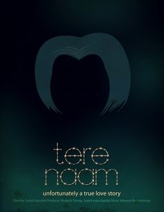 Some of the most creative Minimal Bollywood Movie Posters.  #Bollywood #SalmanKhan #TereNaam