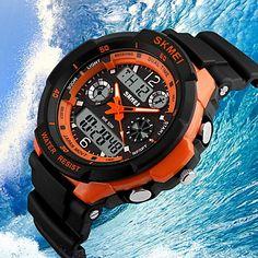 SKMEI® Men's Watch Sport Watch Japanese Quartz Analog-Digital Watch Dual Time Zones Chronograph Calendar LCD Cool Watch Unique Watch Fashion Watch 1468751 2017 – $10.99