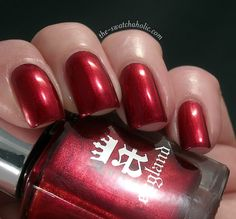 a england Percival red nail polish
