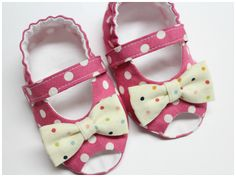 Baby Shoe Pattern  Peep Toe  Sizes 1 to 5 by petitboo on Etsy