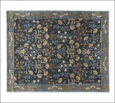Beautiful pattern, lovely colours - would add to the style of any room -Adeline Rug - Blue | Pottery Barn