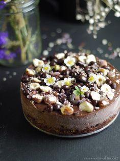 dairy-free chocolate hazelnut cheesecake, vegan, gluten-free, refined sugar-free