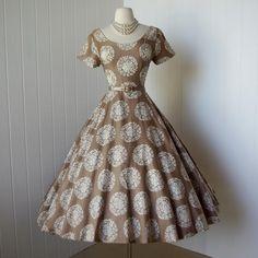 Elaine Terry California dress, 1950's