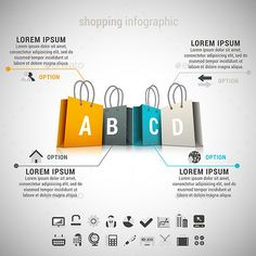 Shopping Infographic Template EPS #design Download: http://graphicriver.net/item/shopping-infographic/9321052?ref=ksioks