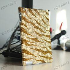 Golden yellow Rhinestone Bling Case For iPad 2