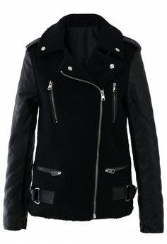 Zip Detail Quilt Sleeve Jacket