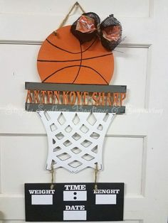 Hey I found this really awesome Etsy listing at ://. Wooden Door HangersWooden DoorsBasketball ... & Custom Sports / Basketball Yard Art / Sign | Yard art Pezcame.Com