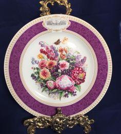 Limoges damgali 21 cm cap dekoratif tabak 75 tl