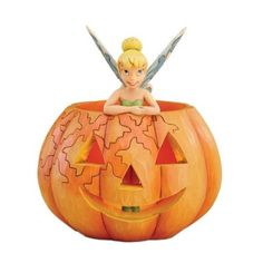 """A Pixie Treat"" Pumpkin W/Tinkerbell - Jim Shore Disney Traditions Tinkerbell Pumpkin, Tinkerbell 3, Tinkerbell And Friends, Disney Fairies, Disney Halloween, Halloween Party Decor, Holidays Halloween, Halloween Fun, Halloween Costumes"